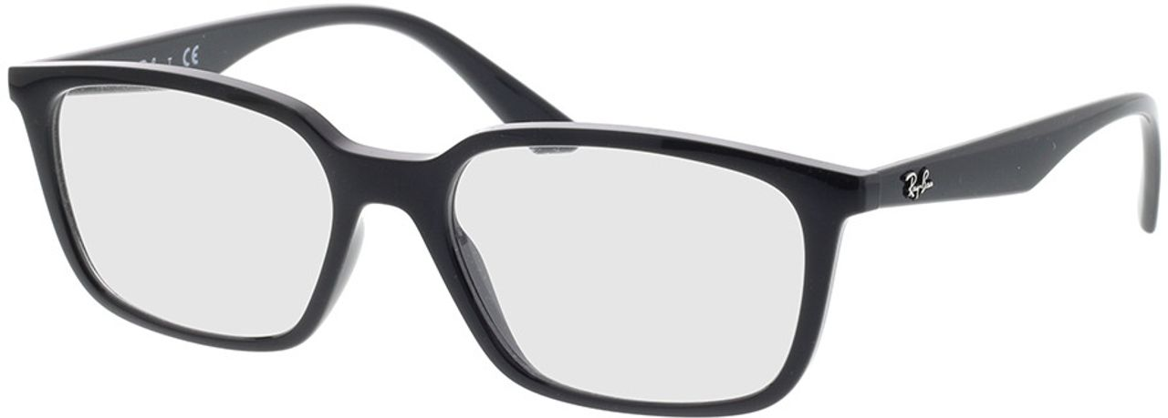 Picture of glasses model Ray-Ban RX7176 2000 54-17 in angle 330