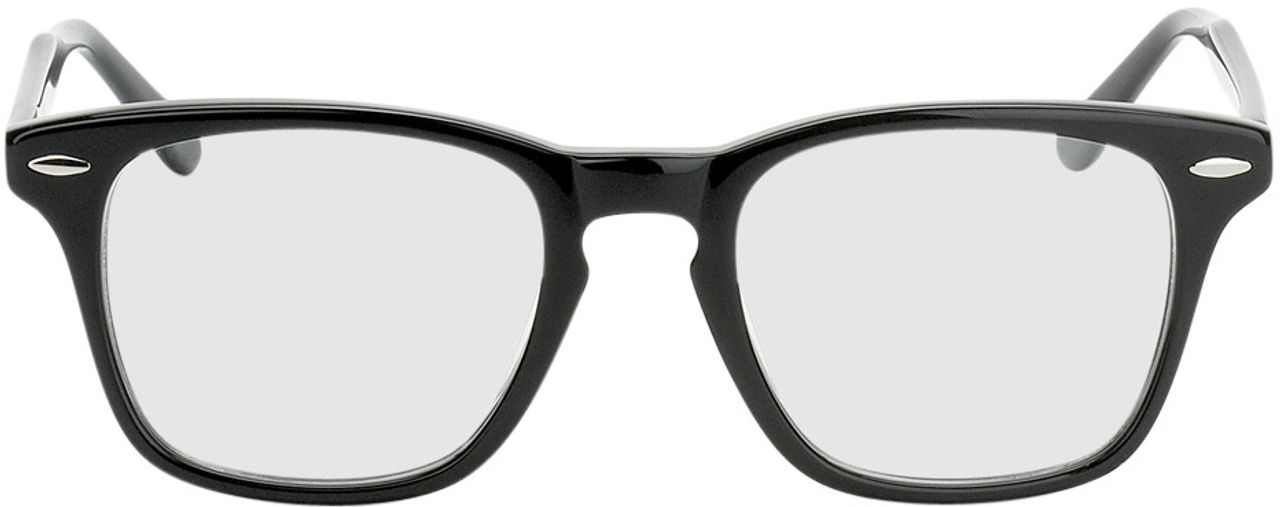 Picture of glasses model Heredia black in angle 0