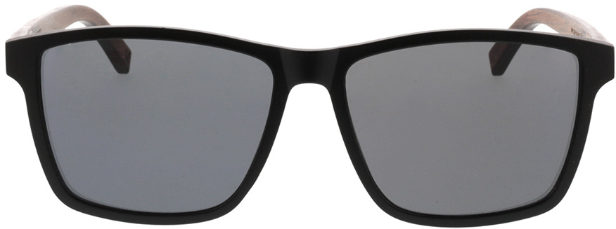 Picture of glasses model TAKE A SHOT Tomte: Walnussholz 57-16 in angle 0