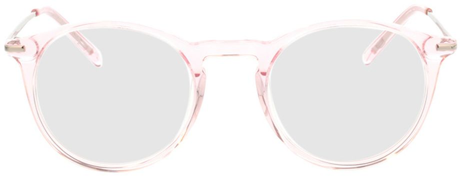 Picture of glasses model Laos-pink-transparent in angle 0