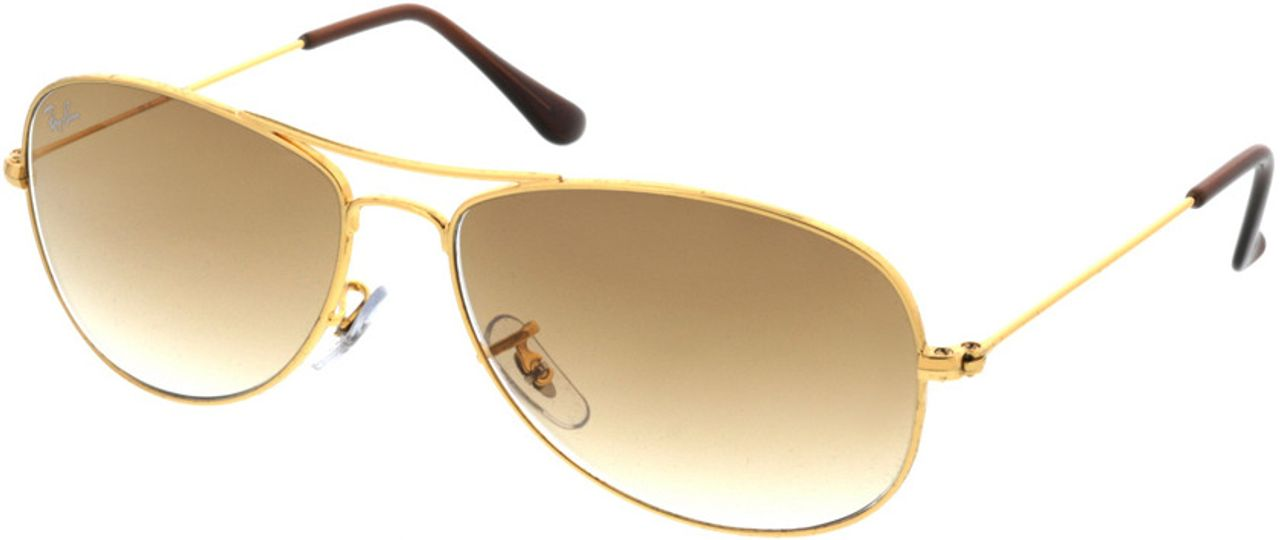 Picture of glasses model Ray-Ban Cockpit RB3362 001/51 56-14 in angle 330