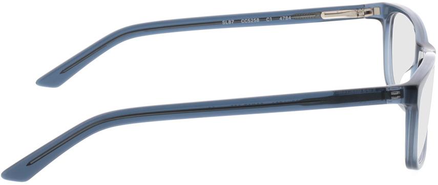 Picture of glasses model Malton-azul-transparente in angle 90