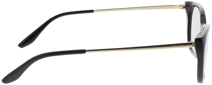 Picture of glasses model Prada PR 14XV 1AB1O1 54-16 in angle 90