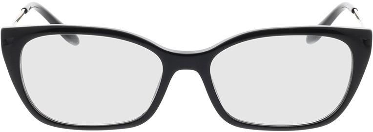 Picture of glasses model Prada PR 14XV 1AB1O1 54-16 in angle 0