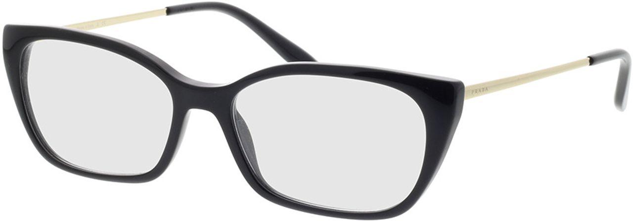 Picture of glasses model Prada PR 14XV 1AB1O1 54-16 in angle 330