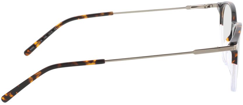 Picture of glasses model Opus-brun marbré/gris-transparent in angle 90
