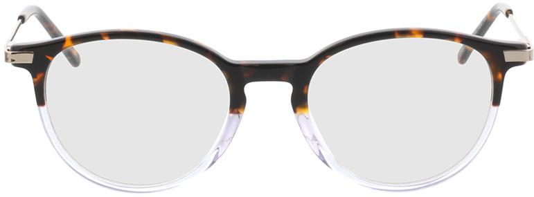 Picture of glasses model Opus-brun marbré/gris-transparent in angle 0