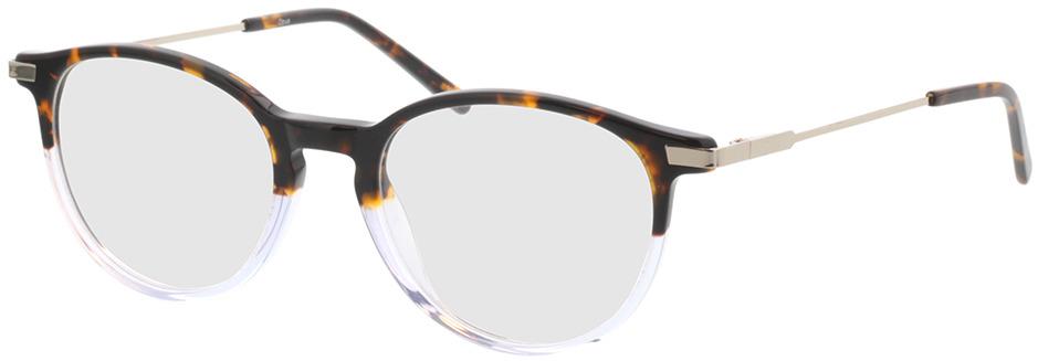 Picture of glasses model Opus-brun marbré/gris-transparent in angle 330