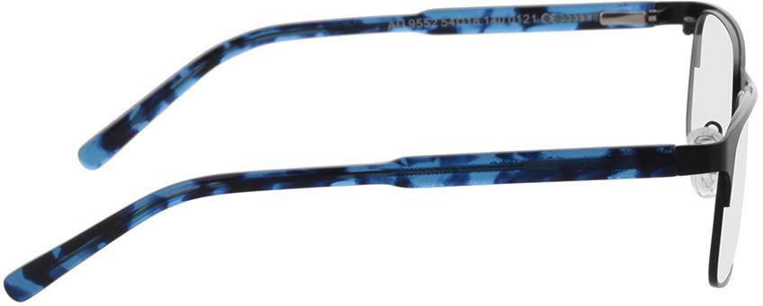 Picture of glasses model Sherman-preto/azul-mosqueado in angle 90