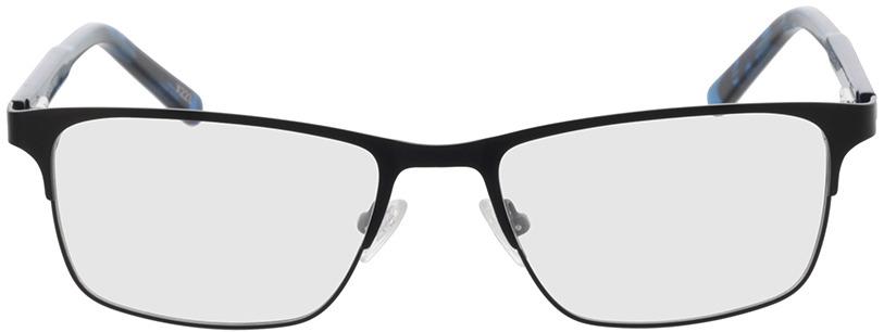 Picture of glasses model Sherman-preto/azul-mosqueado in angle 0