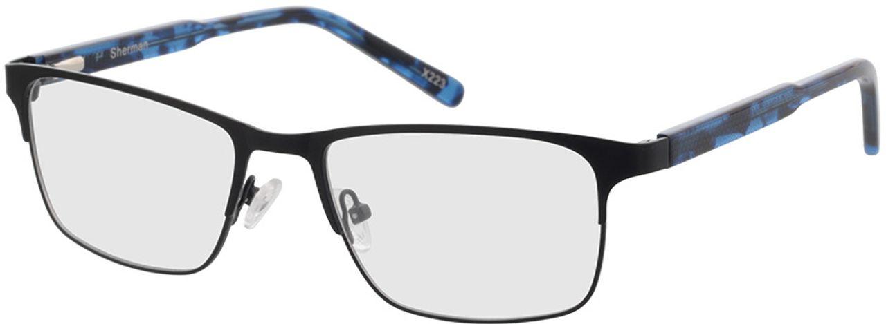 Picture of glasses model Sherman-schwarz/blau-meliert in angle 330