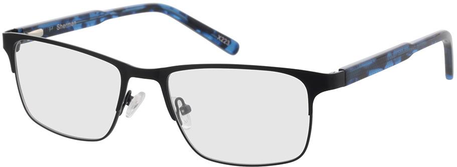 Picture of glasses model Sherman-preto/azul-mosqueado in angle 330