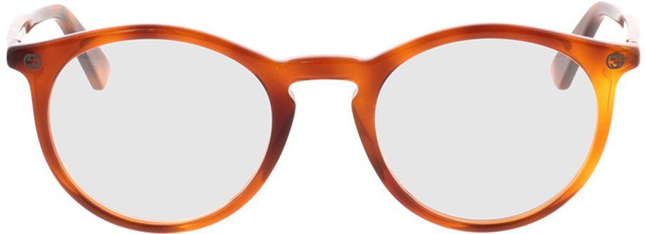 Picture of glasses model Gucci GG0121O-003 49-21 in angle 0