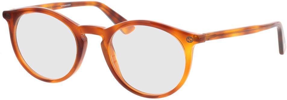 Picture of glasses model Gucci GG0121O-003 49-21 in angle 330