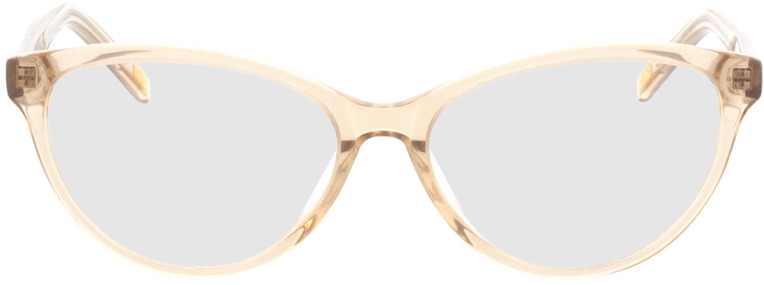 Picture of glasses model Valeria-beige-transparent in angle 0
