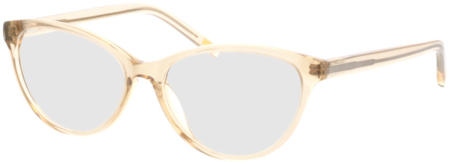 Picture of glasses model Valeria-beige-transparent in angle 330