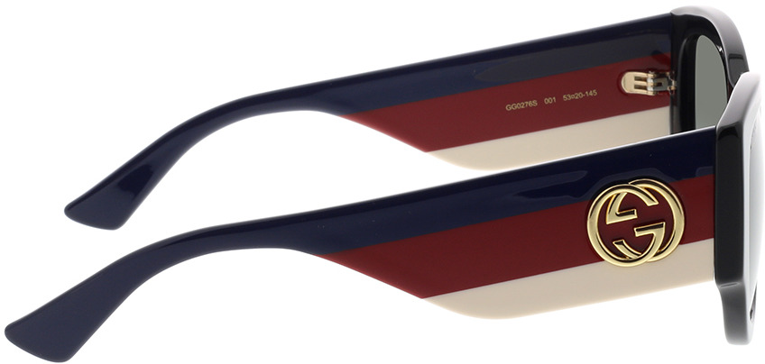 Picture of glasses model Gucci GG0276S-001 53-20 in angle 90