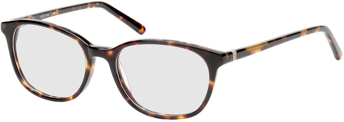 Picture of glasses model Bremen brun marbré in angle 330