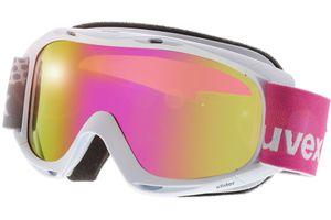 Skibrille Slider FM White/Mirror Pink