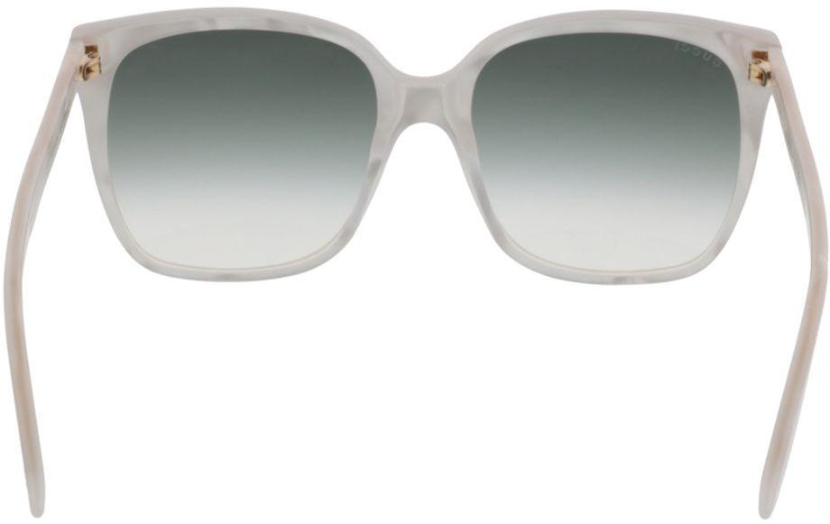 Picture of glasses model Gucci GG0022S-004 57-18 in angle 180