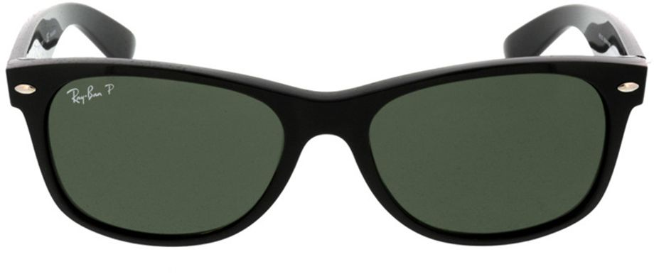 Picture of glasses model Ray-Ban New Wayfarer RB2132 901/58 55-18 in angle 0