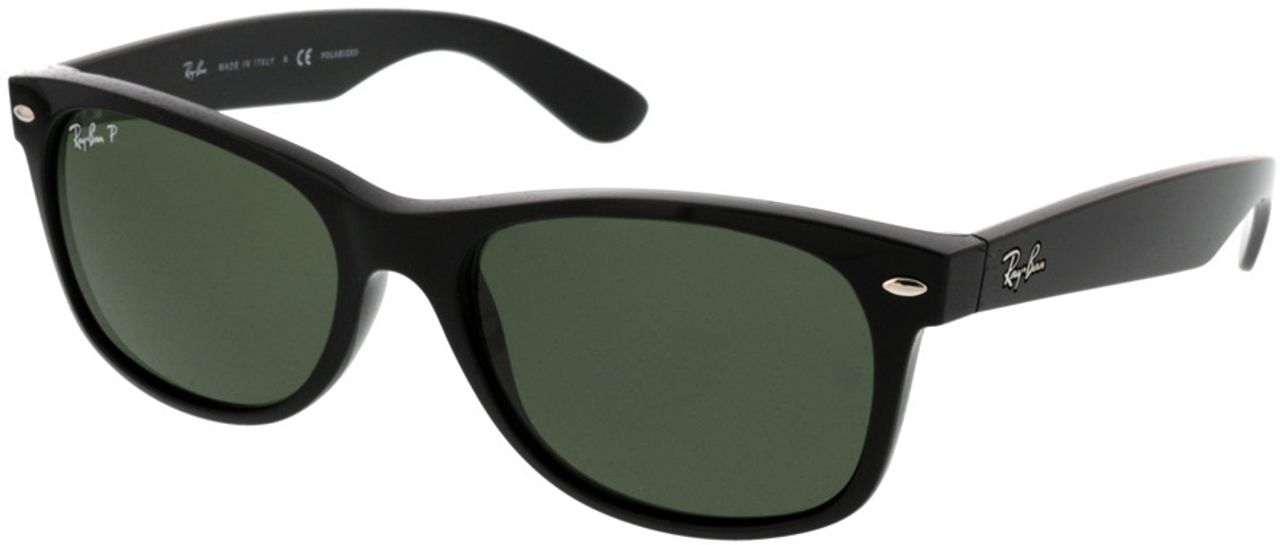 Picture of glasses model Ray-Ban New Wayfarer RB2132 901/58 55-18 in angle 330