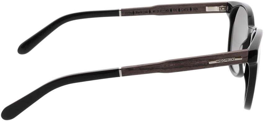 Picture of glasses model Wood Fellas Sunglasses Pottenstein zwart oak/zwart 49-21 in angle 90