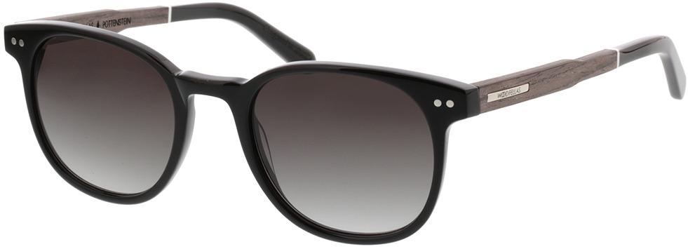 Picture of glasses model Wood Fellas Sunglasses Pottenstein zwart oak/zwart 49-21 in angle 330