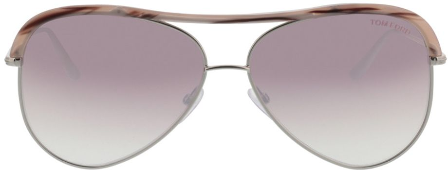 Picture of glasses model Tom Ford FT0606 16Z in angle 0