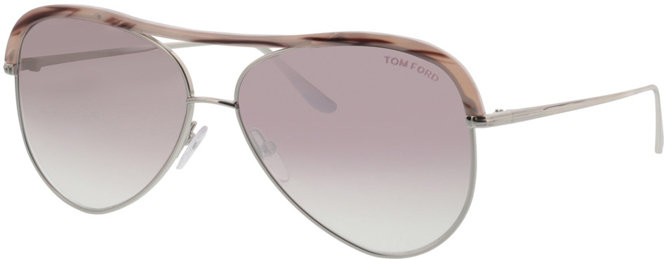 Picture of glasses model Tom Ford FT0606 16Z in angle 330