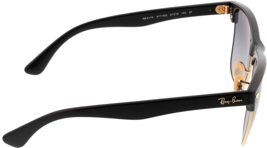 Picture of glasses model Ray-Ban Clubmaster Oversized RB4175 877/M3 57-16 in angle 90