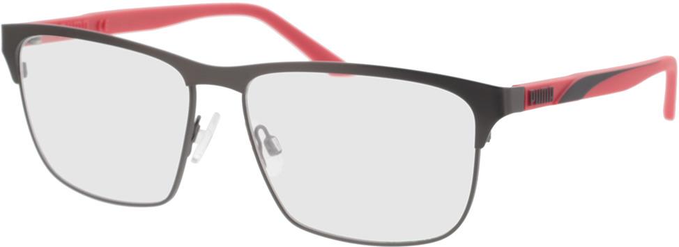 Picture of glasses model Puma PU0348O-003 58-15 in angle 330