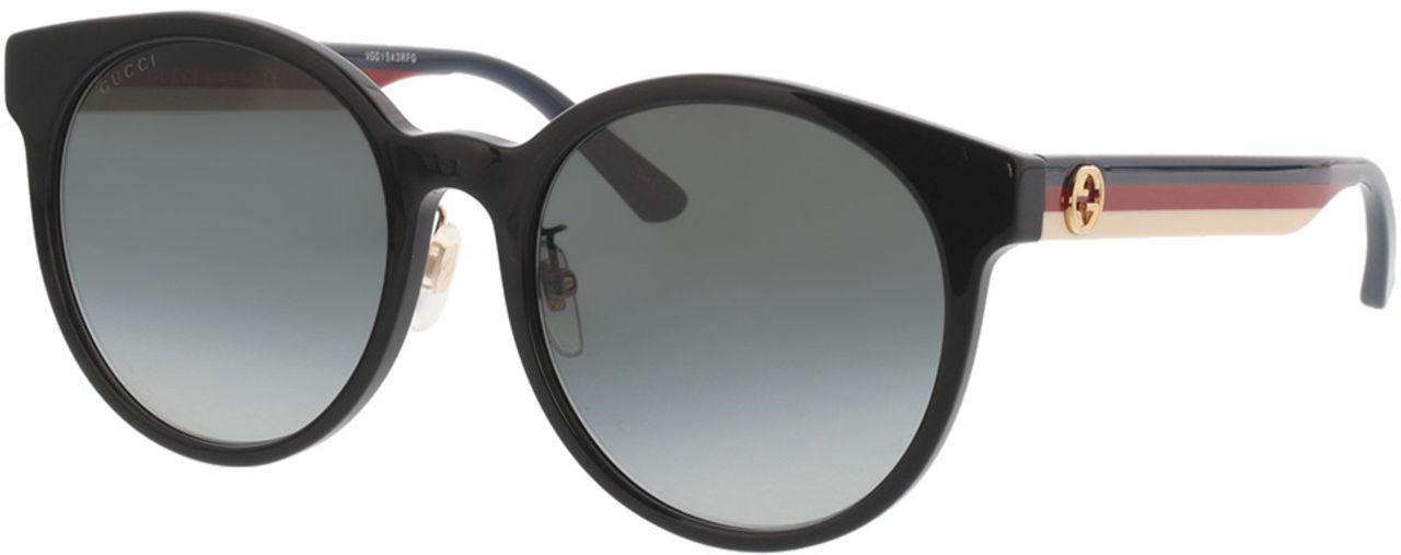 Picture of glasses model Gucci GG0416SK-001 55-20 in angle 330