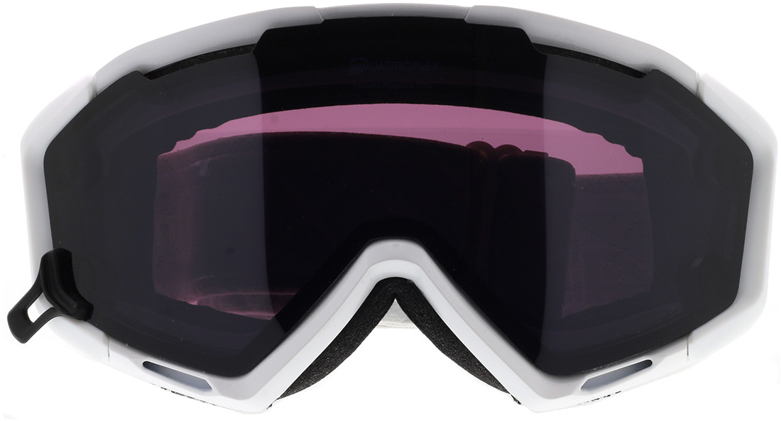Picture of glasses model Alpina Skibrille PANOMA MAG Q white QUATTROFLEX / S black in angle 0