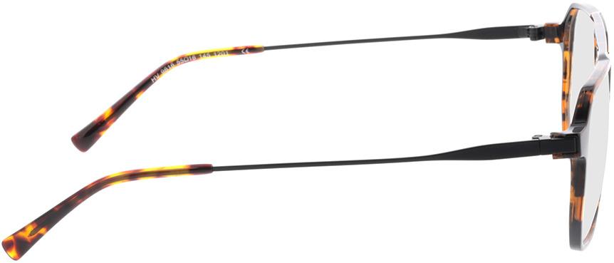 Picture of glasses model Brady-braun-meliert/matt schwarz in angle 90