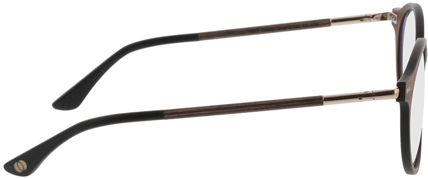 Picture of glasses model Wood Fellas Optical Slate curled 49-19 in angle 90