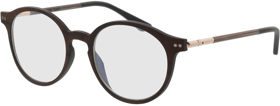 Picture of glasses model Wood Fellas Optical Slate curled 49-19 in angle 330