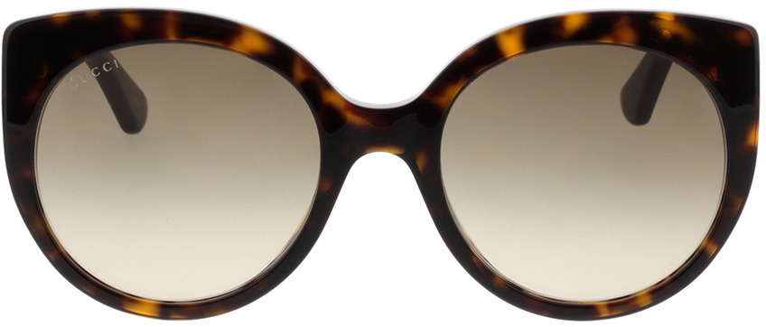 Picture of glasses model Gucci GG0325S-002 55-21 in angle 0