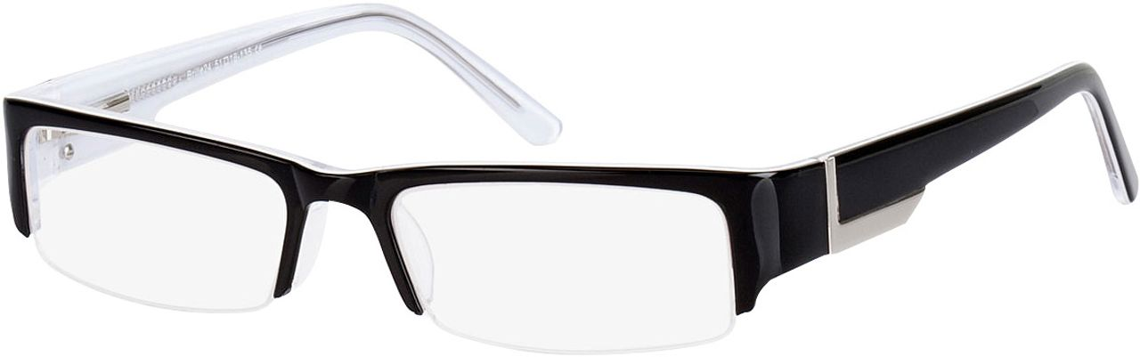 Picture of glasses model Luciano-schwarz in angle 330