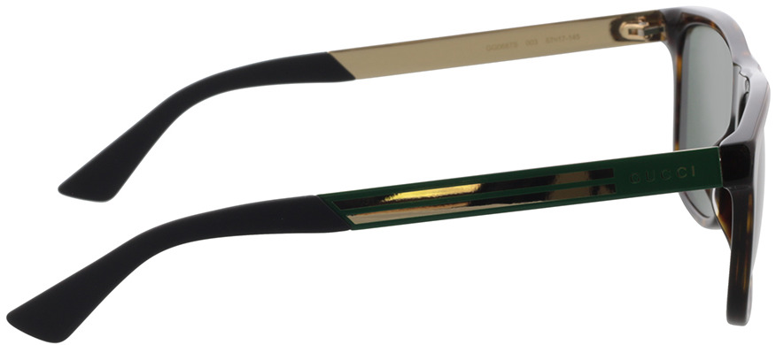 Picture of glasses model Gucci GG0687S-003 57-17 in angle 90