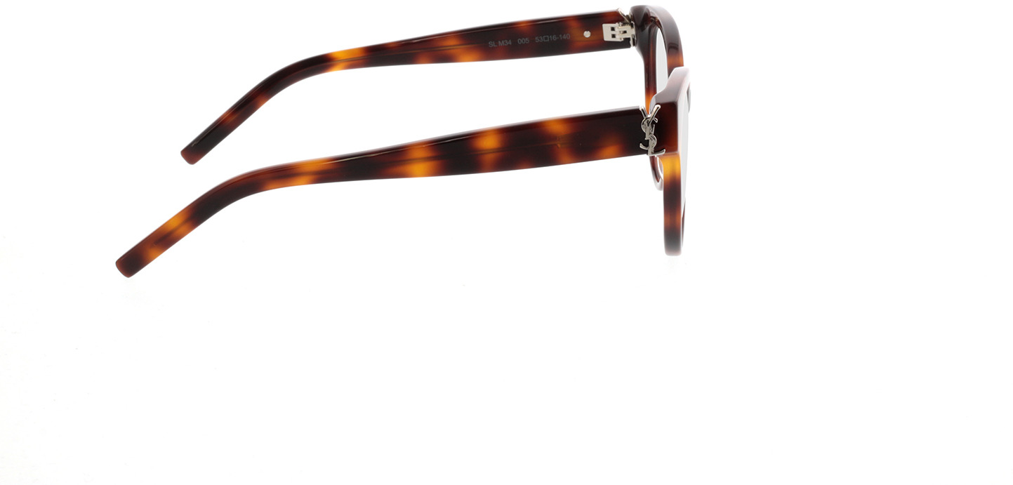 Picture of glasses model Saint Laurent SL M34-005 53-16 in angle 90