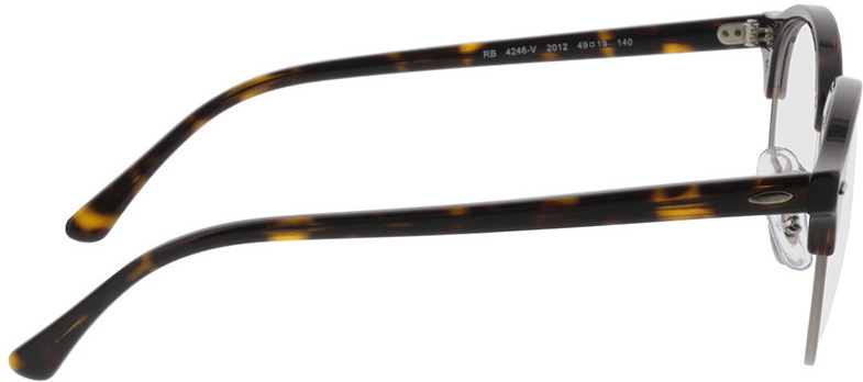 Picture of glasses model Ray-Ban Clubround RX4246V 2012 49-19 in angle 90