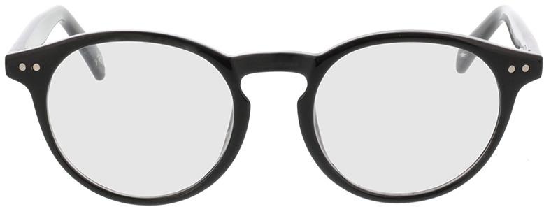 Picture of glasses model Delion-schwarz in angle 0