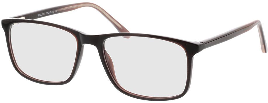 Picture of glasses model Gotland bruin in angle 330