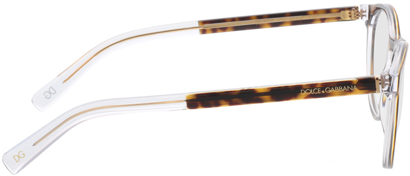 Picture of glasses model Dolce&Gabbana DG3309 757 52-21 in angle 90