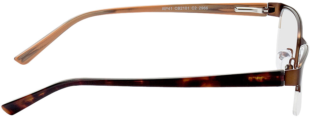 Picture of glasses model Gandia-braun/braun meliert in angle 90