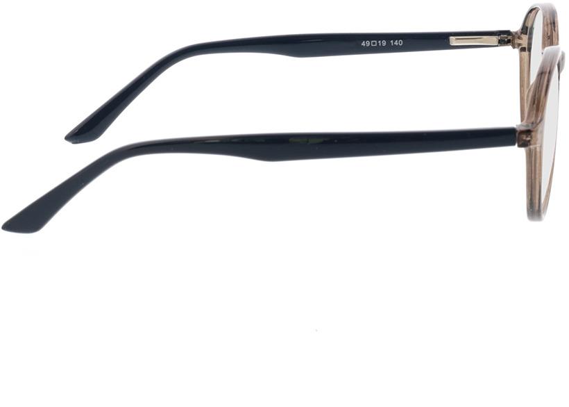 Picture of glasses model Decio-grau transparent in angle 90