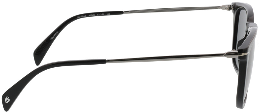 Picture of glasses model David Beckham DB 1034/S 807 53-21 in angle 90