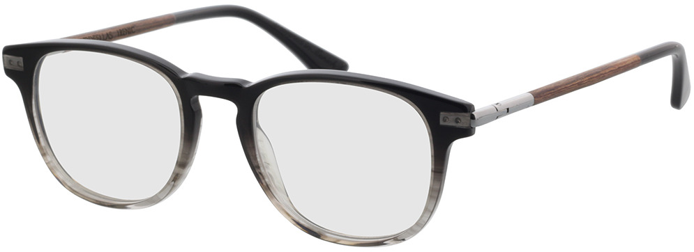 Picture of glasses model Wood Fellas Optical Lucida macassar/zwart 47-19 in angle 330