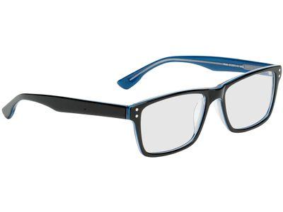 Brille München-schwarz/blau